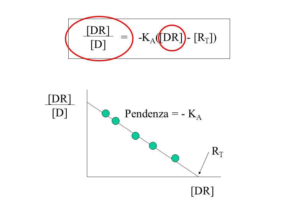= -KA([DR] - [RT]) [DR] [D] [DR] [D] Pendenza = - KA RT [DR]